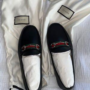 Brand new men's Gucci black driver loafer
